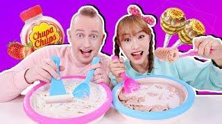 Making Chupa Chups Ice Cream Rolls with Brian -Jini