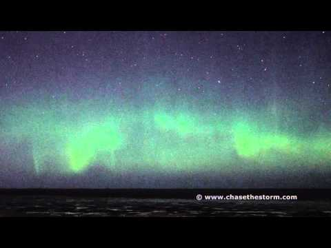 Beautiful Northumberland Aurora filmed in real time.