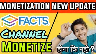 Youtube Monetization News Update | Facts Channel Monetization Will Enable Activate Or Not | Hindi