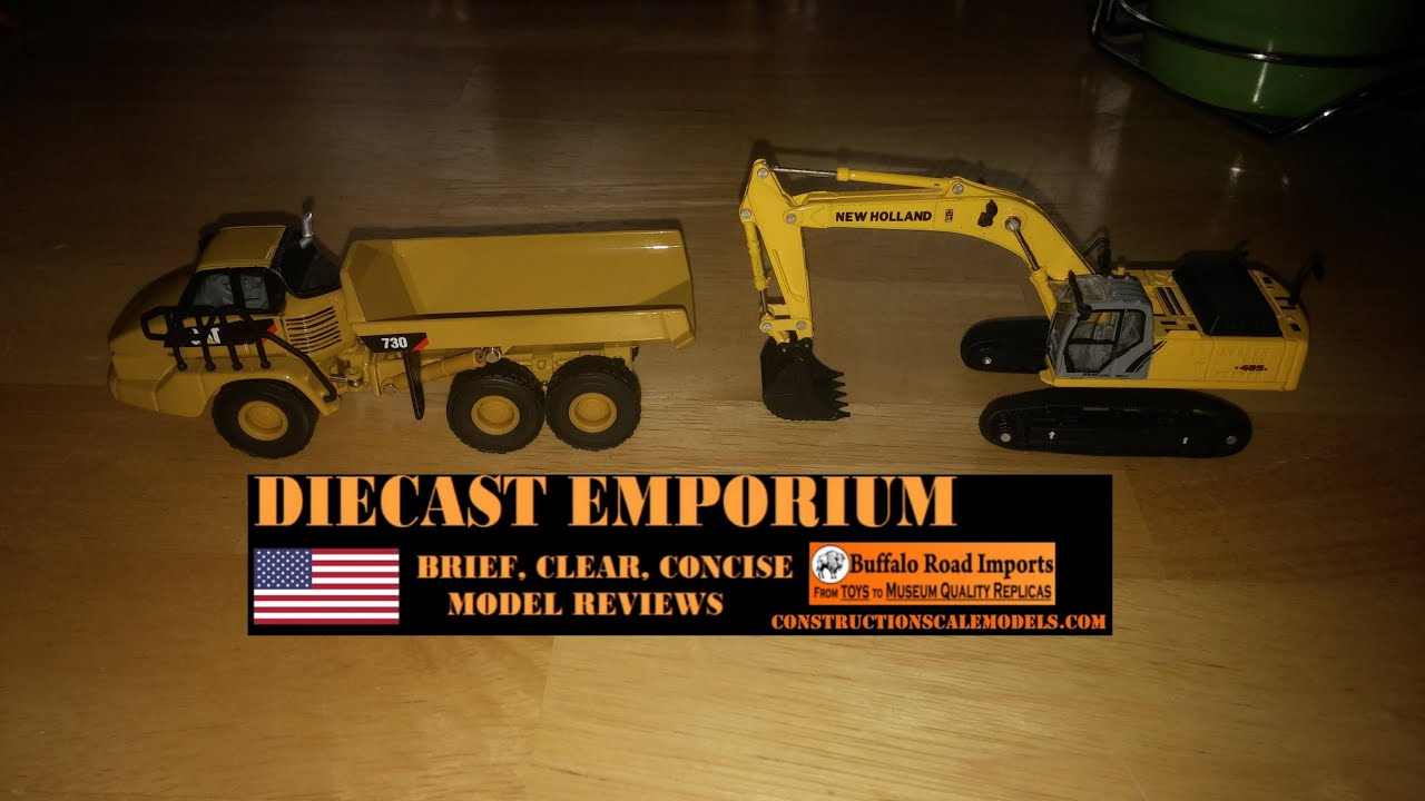 Cat Dump Truck >> 1/87 Scale New Holland E485B Excavator & Cat 730 Articulated Dump Truck Reviews - YouTube