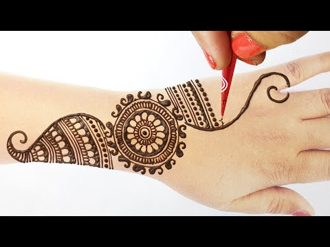 आसान शेडेड मेहँदी डिज़ाइन -Latest Stylish Kairi Shape Mehndi design-Easy Arabic Wedding Mehndi Design