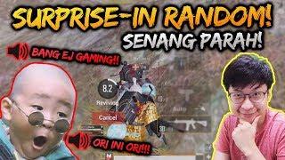 PLAYER BENGKULU INI TERIAK2 KETEMU EJGAMING!! | PUBG MOBILE