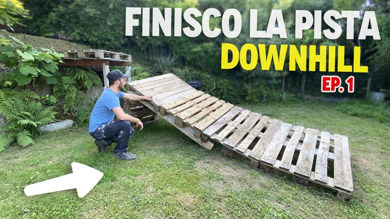 FINISCO LA PISTA DOWNHILL IN GIARDINO