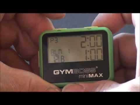 Gymboss miniMAX Navigation and Setup Tips