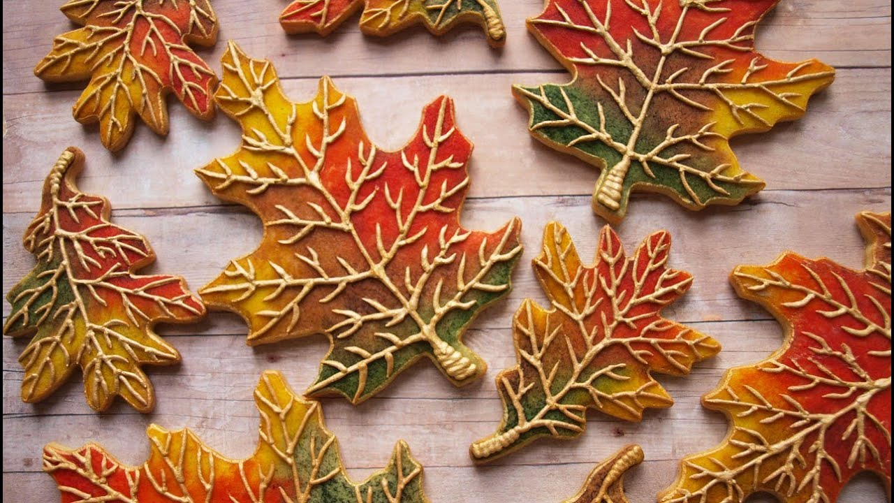 How To Decorate Cookies To Look Like Fall Leaves Youtube