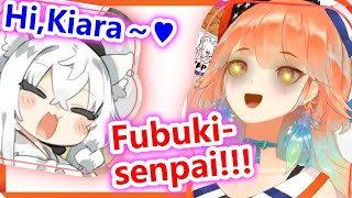 【ENG SUB】Kiara is cute when she promises to collaborate with Fubuki and is happy to see her【hololive