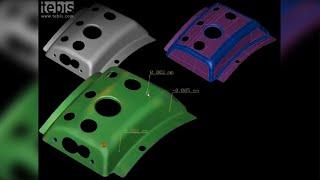 Wie ein gescantes Blech zu einem CAD-Flächenmodell wird ● Tebis Flächenrückführung