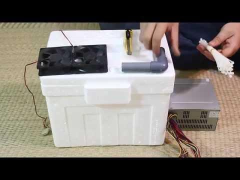 Hướng dẫn cách làm máy lạnh đơn giản từ đá & hộp xốp