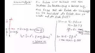 Physik: Senkrechter Wurf (mit Klausuraufgabe)