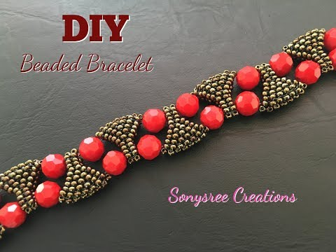 Designer Statement Bracelet 🌹 Beaded bracelet DIY bracelet