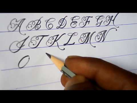 How to write english capital letters   fancy letter writing tutorials   mazic writer