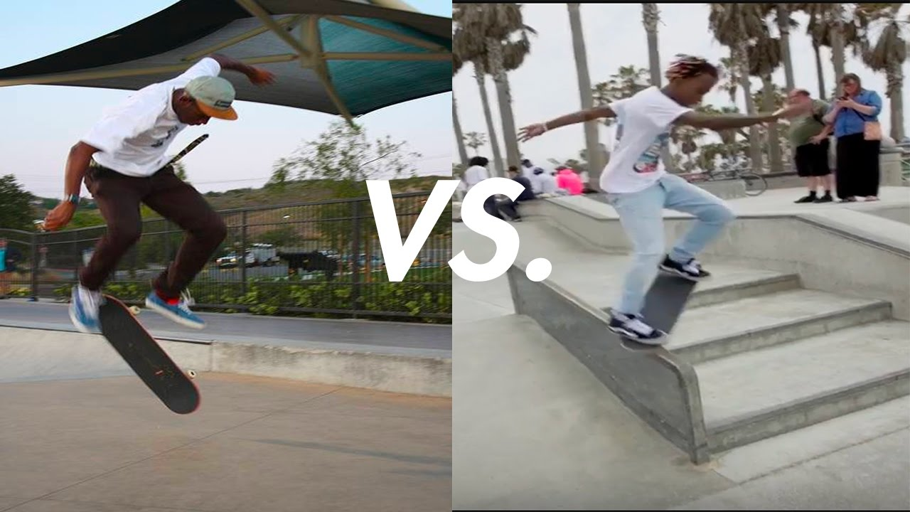 Tyler The Creator Vs. Rich The Kid Skateboarding!