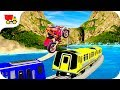 Bike Racing Games - Bike Stunts on Crazy train Mania - Gameplay Android free games