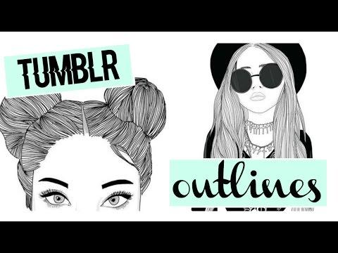 Tuto Outlines Tumblr Facile Et Sans Logiciel Youtube
