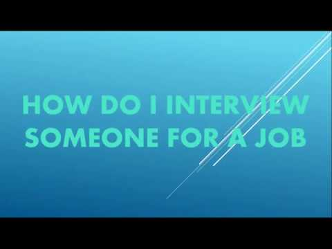 How do I interview someone for a job || by Training Video