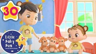 5 Little Monkeys | +More Baby Songs | Nursery Rhymes | Little Baby Bum