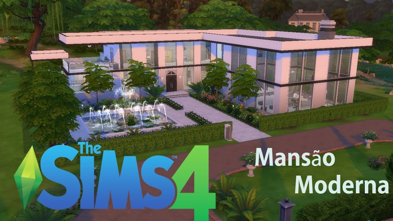 Mans o moderna modern mansion the sims 4 speed build for Mobilia para sims 4