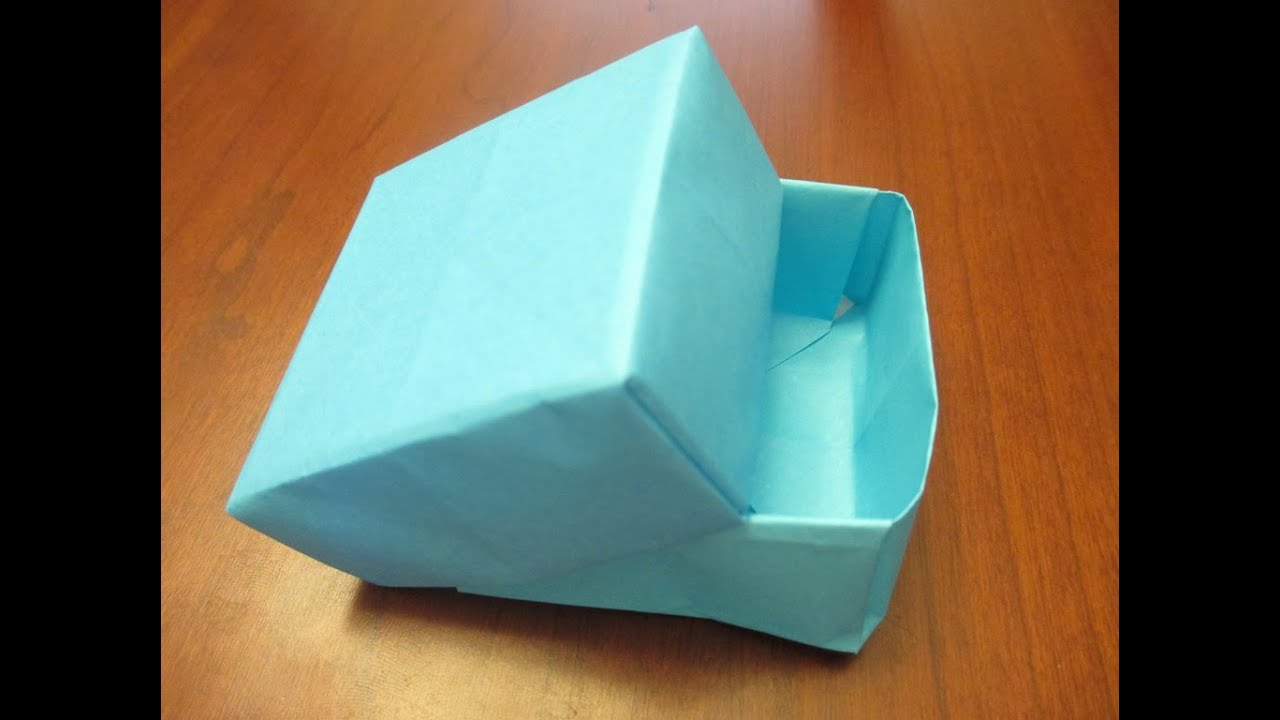 How to make an Origami Box with Lid - YouTube - photo#39