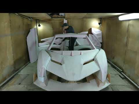 Самодельный Lamborghini Veneno. Реплика автомобиля. Копия суперкара.