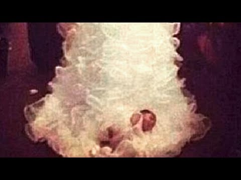 Yes, That\'s A Baby Attached To A Wedding Dress - YouTube