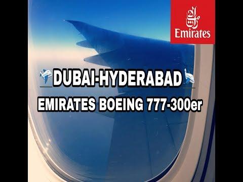 Emirates boeing 777-300er DUBAI-HYDERABAD Full flight report *2018* morning flight   YOUNG AVIATOR