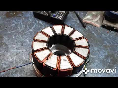 BLDC  мотор  с нуля, ротор и катушки
