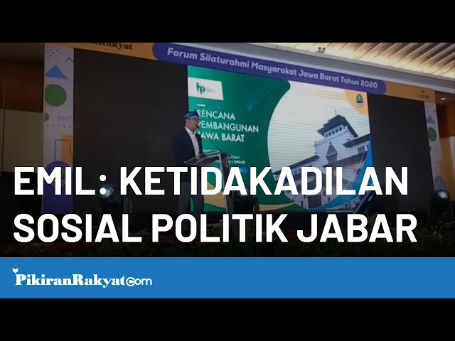 Ridwan Kamil: Jawa Barat Alami Ketidakadilan Dalam Hal Sosial Politik