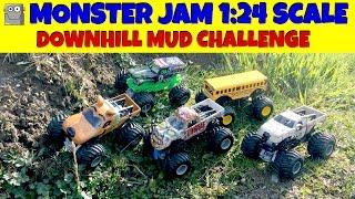 monster jam downhill mud challenge