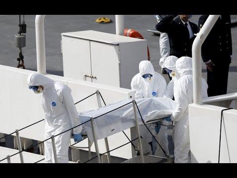 Migrant tragedy: Bodies taken to Malta port