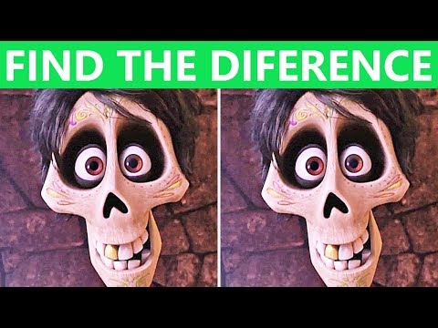 Only Real Genius Can FIND THE DIFFERENCE! | Coco Movie Puzzle #2