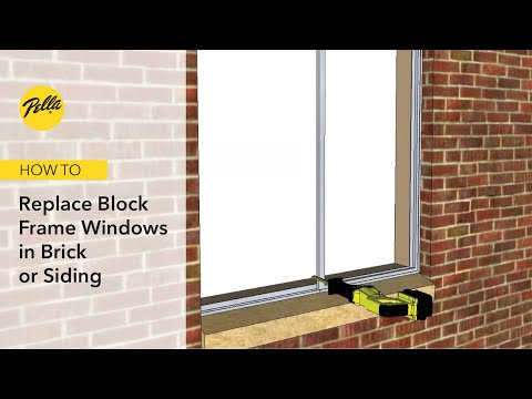 How to Replace Block Frame Windows without Disturbing Brick or Siding