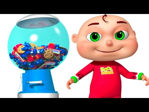 Thumbnail: Five Little Babies Playing Ball Machine | Zool Babies Fun Songs | Surprise Ball Machine For Kids