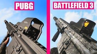 PlayerUnknown's Battlegrounds vs Battlefield 3 Weapons Comparison