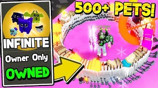 OWNER GAVE ME INFINITE PETS IN UNBOXING SIMULATOR! *500+ PETS* Roblox