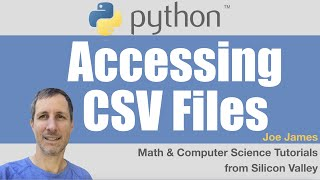 Python: Accessing CSV Files (read and write)