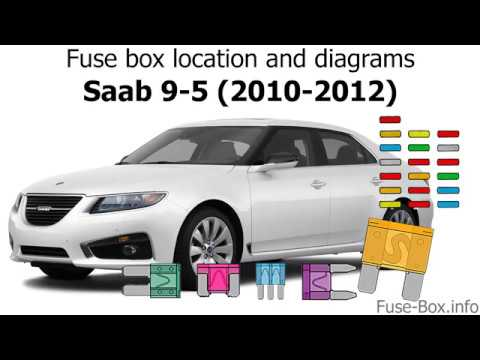 Fuse box location and diagrams: Saab 9-5 (2010-2012) - YouTube  YouTube