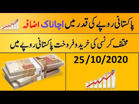 Today's Open Market Currency Rates In Pakistan  PKR Exchange Rate  25th October 2020