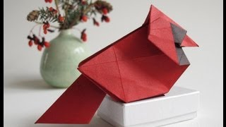 How To Fold An Origami Cardinal