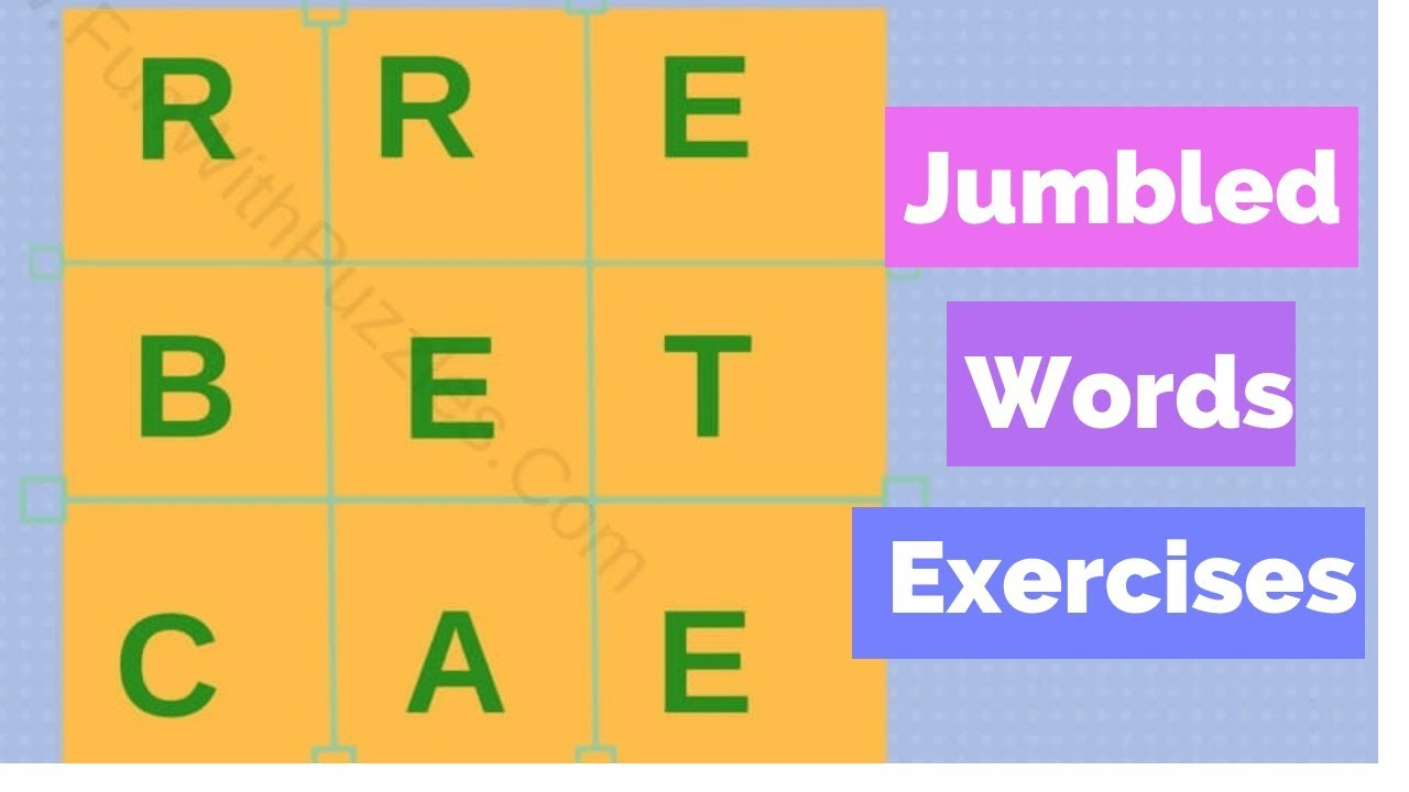 hight resolution of Jumbled Words Exercise For Class 10 Cbse - Color and Drawing