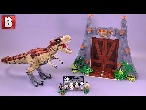 Jurassic Park T. rex Rampage LEGO Set Review 75936