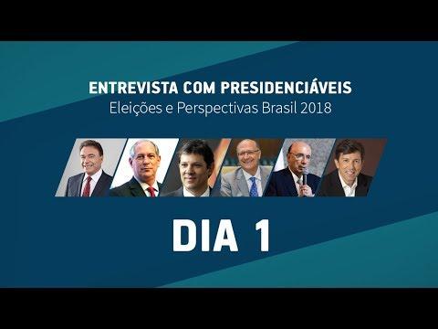 Eleições e Perspectivas - Entrevista com Presidenciáveis 2018 - Dia 1