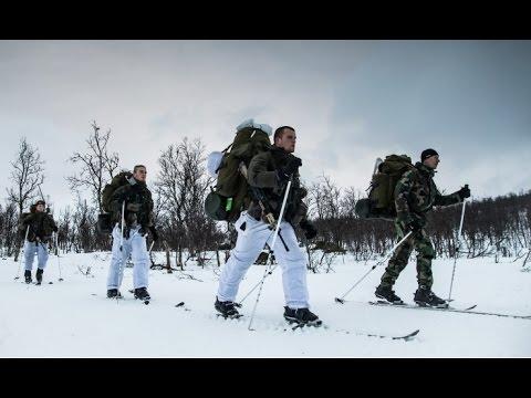 Mariniers op wintertraining in Noorwegen