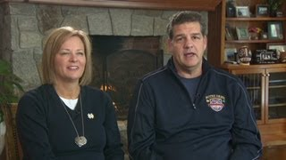 Former linebacker mike golic and his wife chrsitine discuss their family's tradition of playing for the fighting irish. more from cnn, check out http://w...