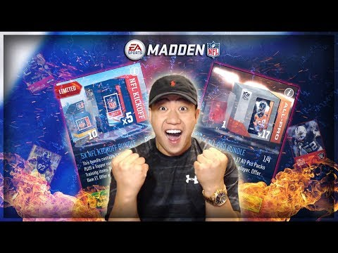 Madden Mobile 18 ALL PRO BUNDLE & KICKOFF BUNDLE OPENING!! ELITES EVERYWHERE!!