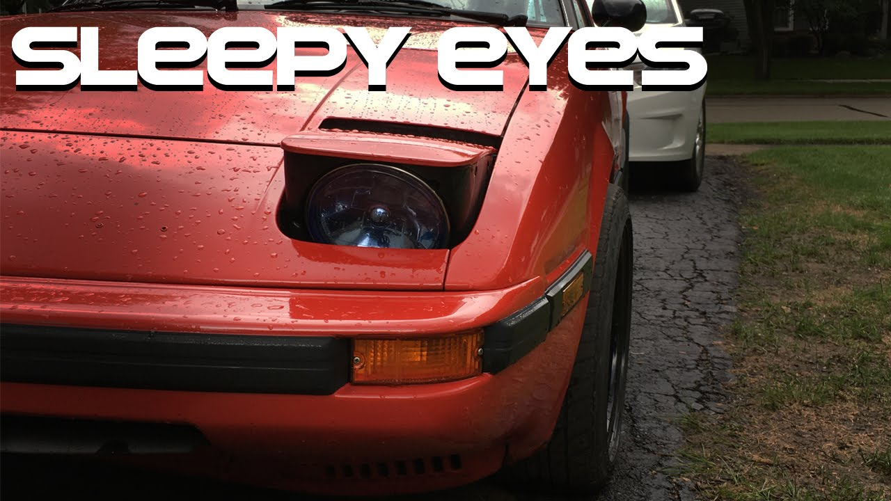 Mazda Rx7 Sleepy Eye Headlight How To Youtube