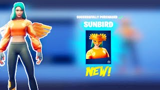 *NEW* Sun Soldier skins Gameplay in Fortnite Battle Royale!| SUNBIRD
