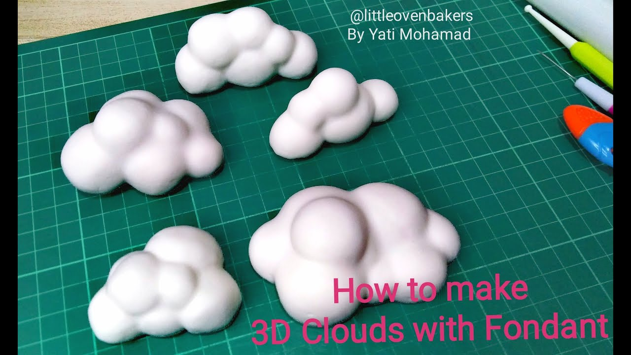 Tutorial 8D Clouds with Fondant #cloudfondanttutorial  #8dcloudfondant#8dcloud#fondantdeco