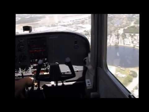 My first solo, Palm Beach Flight Training.