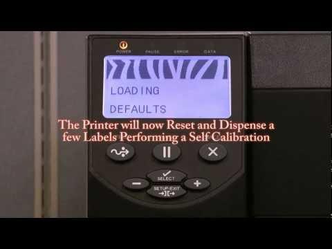 Zebra ZM400: Resetting Factory Defaults - YouTube