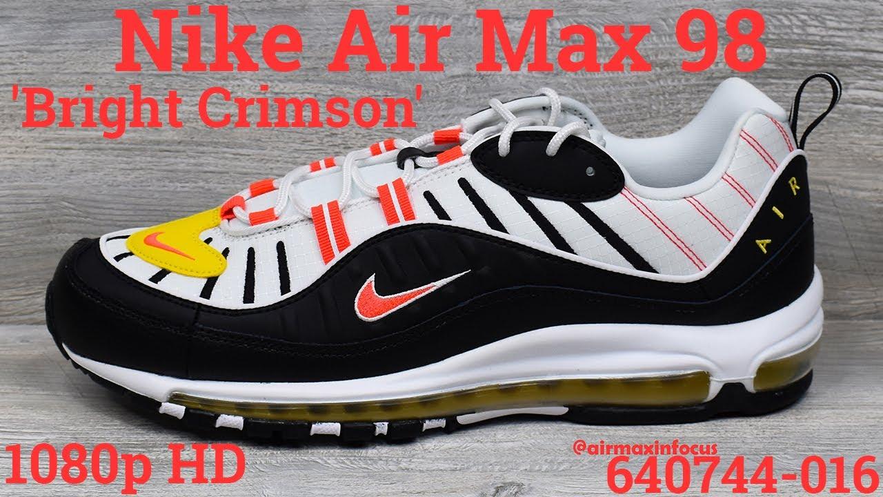 air max 98 black crimson